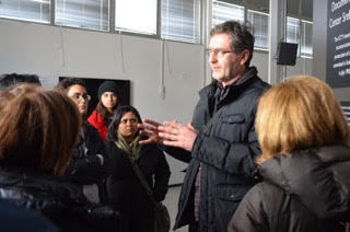 at srebrencia in factory with UN translator