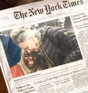 photo of front page of NYT