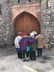 Azerbaijan 2017 trip group at door