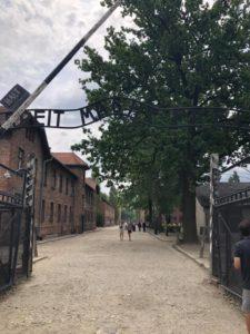 Entrance to Auschwitz Gates