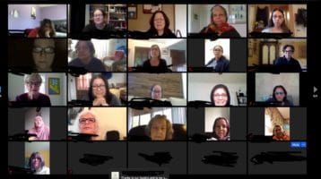 Screen shoot of women on a Zoom meeting